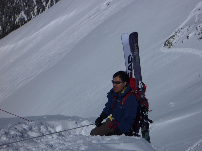 Andre, the ski moutaineer.