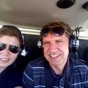 Radek and I in the helicopter.
