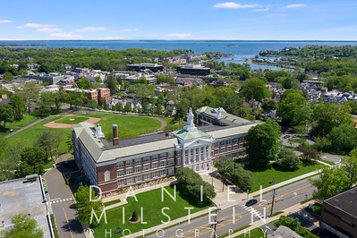 Greenwich Town Hall 05-2019 DMP aerial stock 02