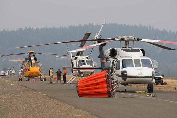 BUTTE FIRE HELIBASE SEPT.13,2015