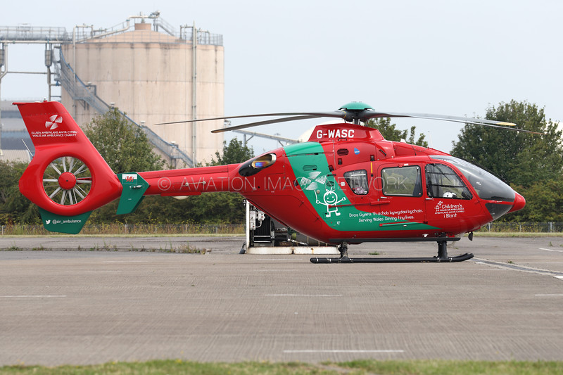 G-WASC   Eurocopter EC135 T2+   Children's Wales Air Ambulance (Babcock Mission Critical Services Onshore Ltd)