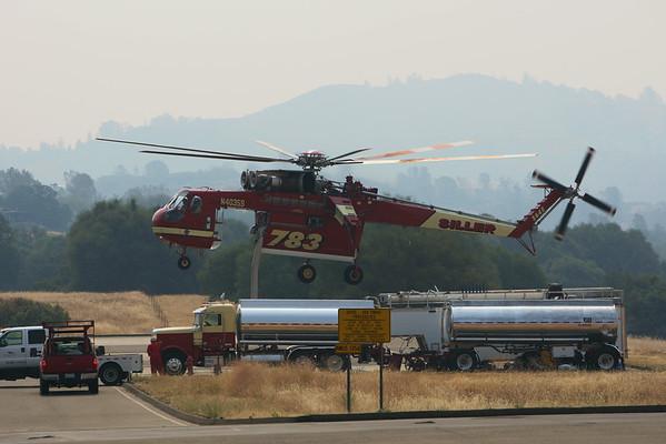 Portal Fire Helibase and Aircranes 2014