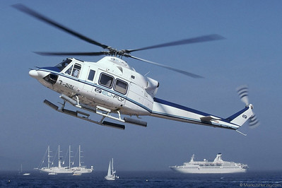 F-OIOL Bell 412EP Eli-Fly @ Monaco 27May01 - ex F-GKAK