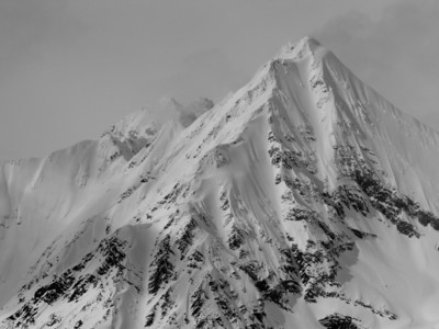 Mt. Hatteras in the Purcells, not your regular ski mountain. The face on the right has been skied once right from the top.