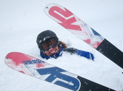 you don't want to fall in this kind of snow- Greg after skiing Porcupine Chute