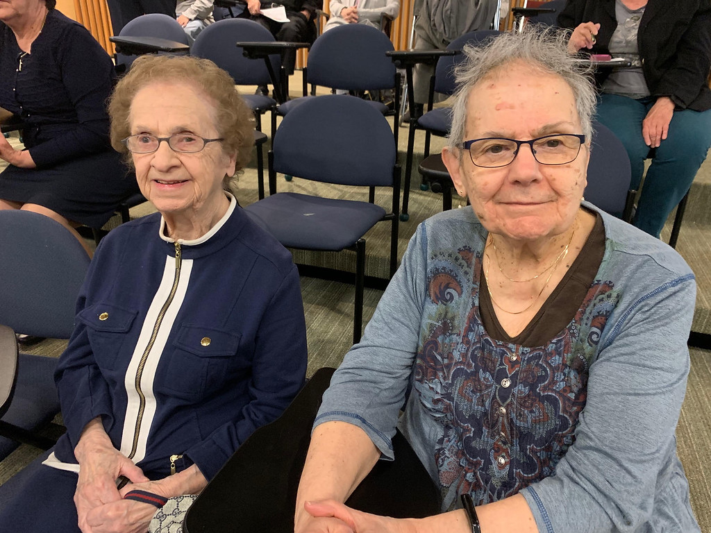 . Sylvia Contover of Chelmsford and Judy Bessette of Dracut