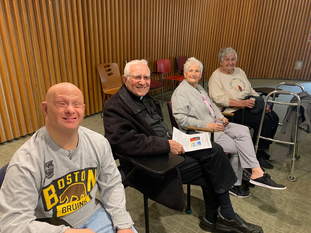 . The Rev. Anastasios Coulouras of Chelmsford, second from left, with his son, Johnny, Carleen Gavin of Westford and Presbytera Helen Coulouras of Chelmsford