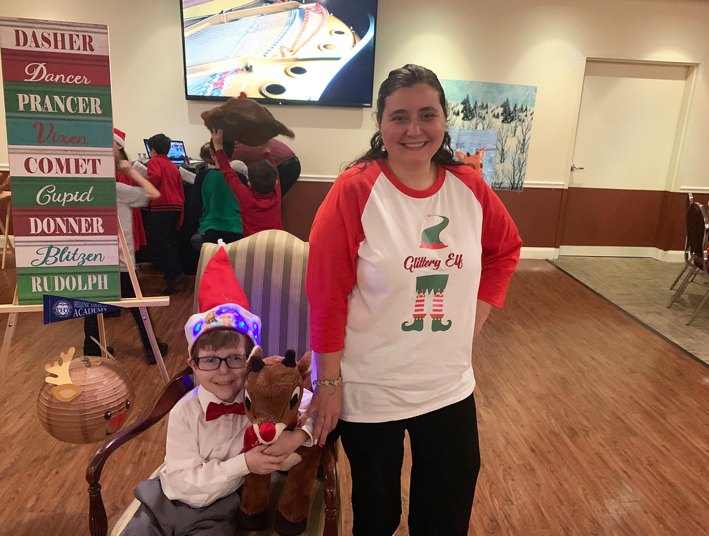 . Heather St. Onge of the Lowell and sweet Lucas, who is a huge Rudolph fan