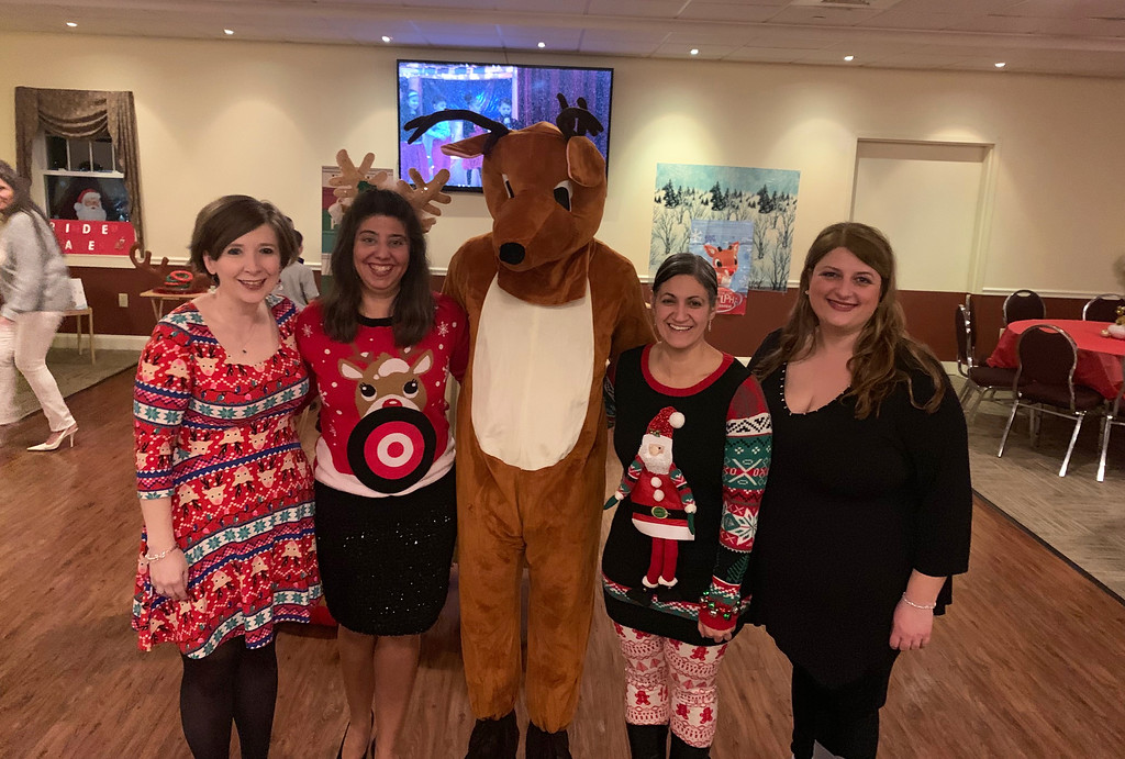 . Rudolph�s lovely ladies, from left, HAA PTA members Angela Kulesza of Lowell, Meridith Regan of Ashby, and Althea Anagnastopoulos and Barbara Katoutsis, both of Chelmsford