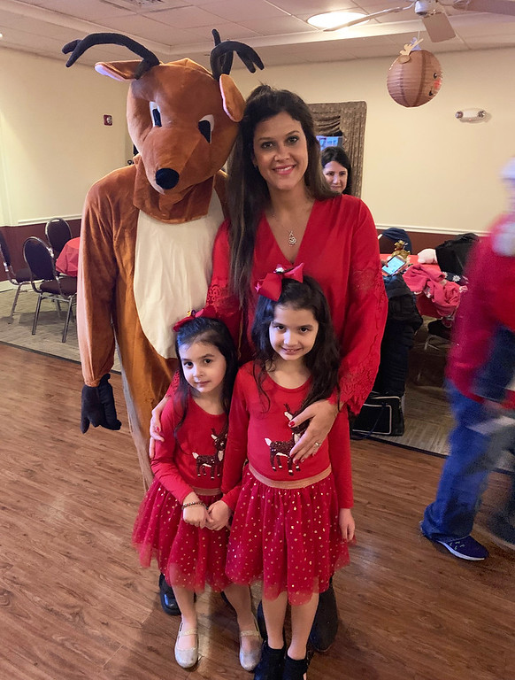 . Rudolph and his good friends, Georgia Cocalis of Dracut, and her adorably dressed daughters, Fanoula and Barbara