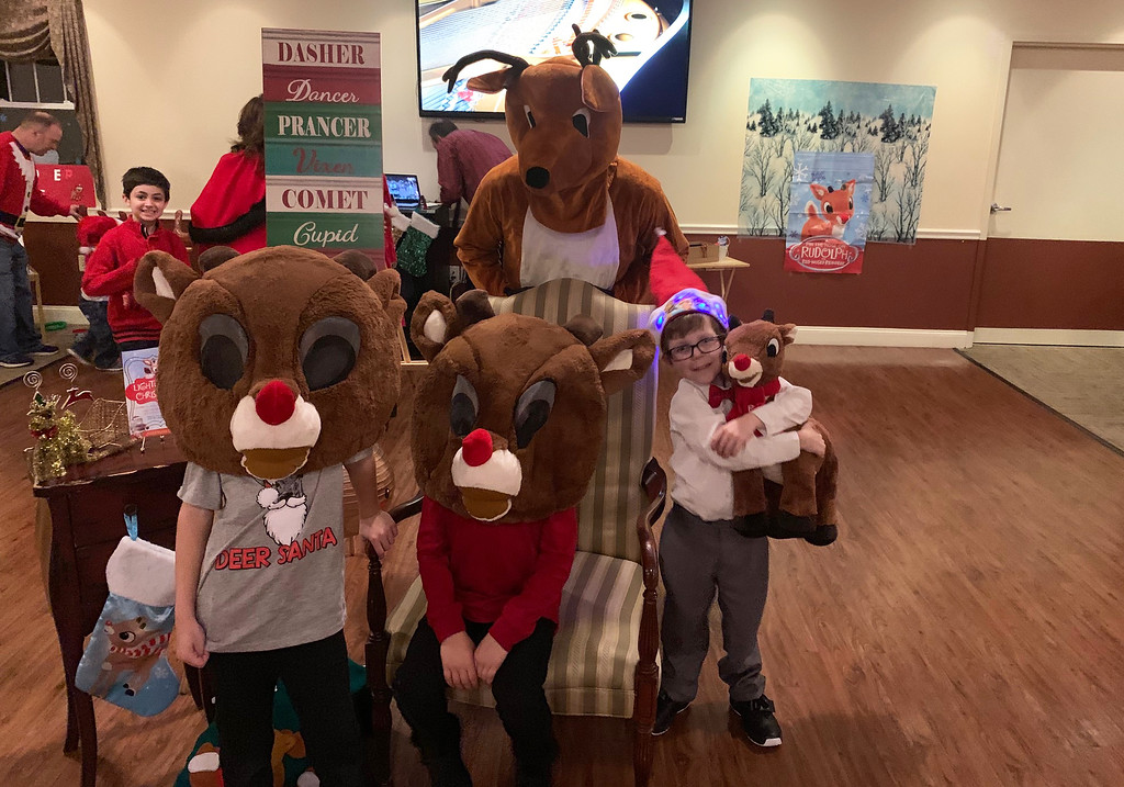 . Rudolph and some reindeer pals