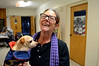 DAVID LACHANCE — BENNINGTON BANNER<br /> Peanut's owner, Nancy Sanford of Bennington, was relieved to know that there was a simple treatment for the leg problem that her dog, Peanut, had developed.
