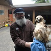 Garth Noggle (Officer of NW Bird Rescue) R Tailed Hawk Release 4.15.14