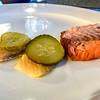 Salmon, pickled herring and pickles
