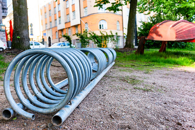 Helsinki bicycle stand