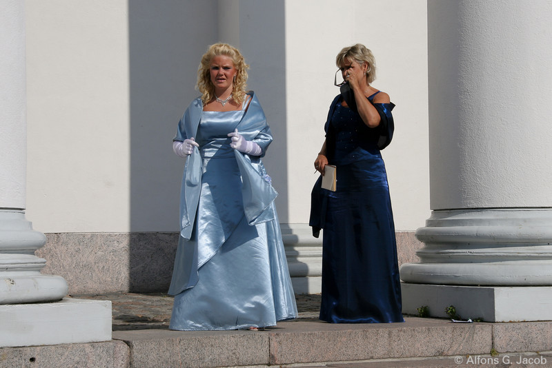Wedding at the Cathedral, Helsinki, Finland