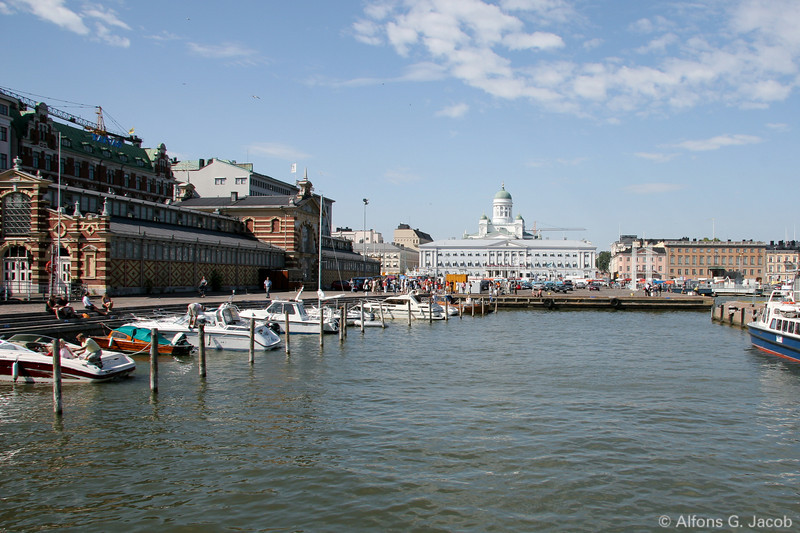 Old Market Hall and Presidential Palace, Helsinki, Finland