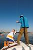 Sailing in David's boat
