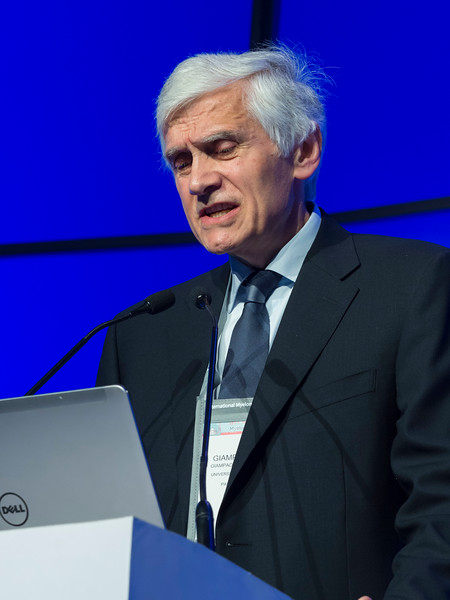 Giampaolo Merlini, MD speaks during the Related Plasma Cell Disorders session