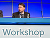 Panelists speak during the Precision Medicine: Genomics and Disease Monitoring session