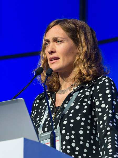 Elena Zamagni, MD speaks during the High Risk Disease session