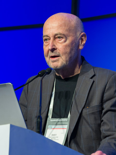 Bart Barlogie, MD speaks during the Bart Barlogie Award and Lecture session