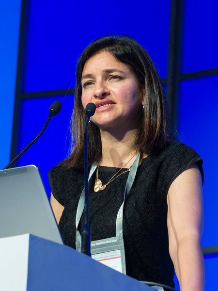 Noopur Raje, MD speaks during the Selected Oral Abstracts session