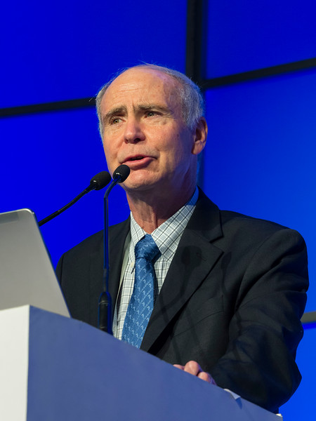 Ken Anderson, MD speaks during the Ken Anderson Award and Lecture session