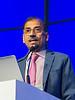 """Sundar Jagannath, MD, speaks during the opening session """"Role of Transplantation/Consolidation and maintenance in MM"""""""