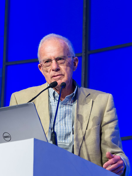 """Anthony Child, MD, speaks during the opening session """"Role of Transplantation/Consolidation and maintenance in MM"""""""