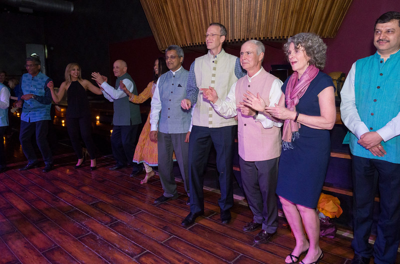 Attendees during the faculty reception