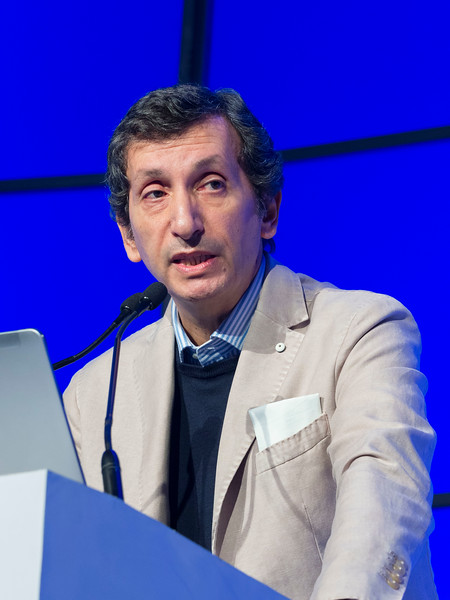 """Michele Cavo, MD, speaks during the opening session """"Role of Transplantation/Consolidation and maintenance in MM"""""""