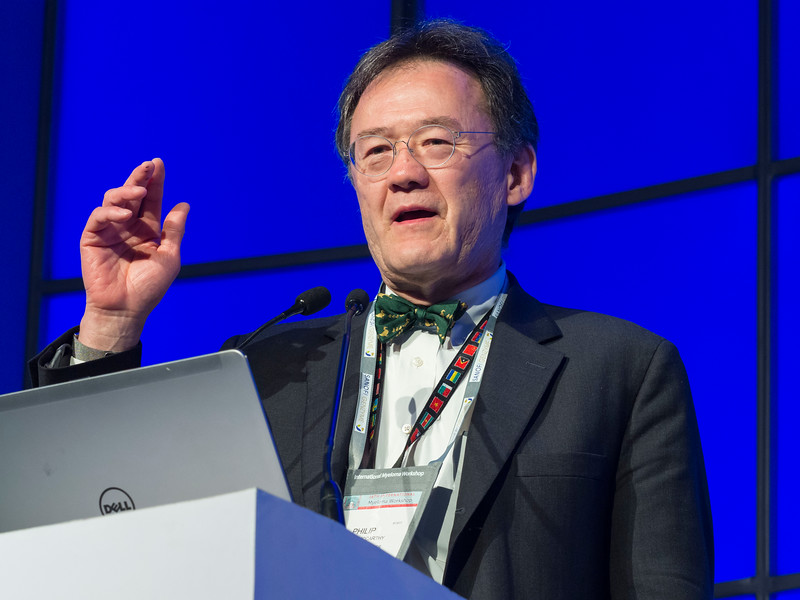 """Philip McCarthy, MD, speaks during the opening session """"Role of Transplantation/Consolidation and maintenance in MM"""""""