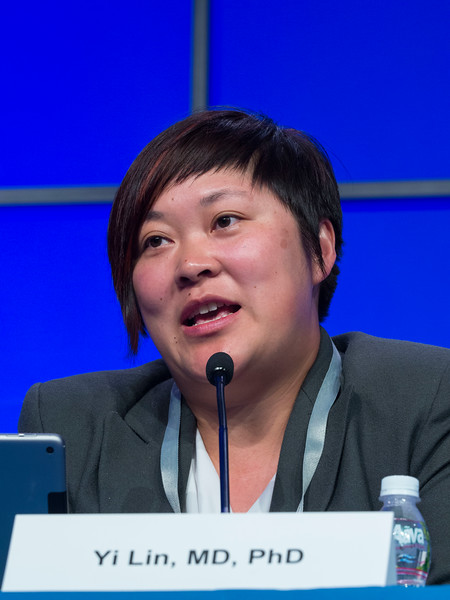 "Yi Lin, MD speaks during the session ""Immuno-Oncology"""