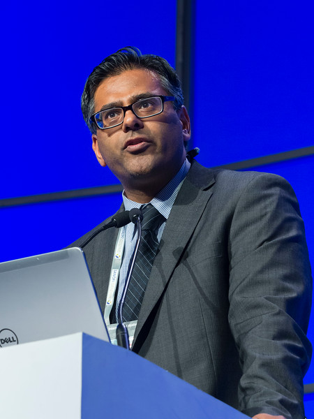 "Jatin Shah, MD speaks during the session ""Landscape of Current International Trials"""