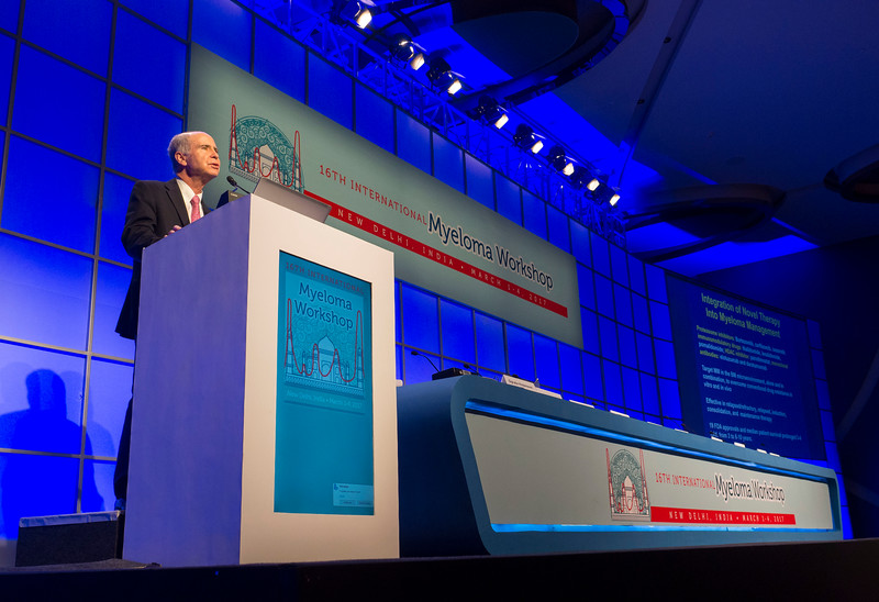 Ken Anderson, MD gives a keynote lecture during the opening ceremonies