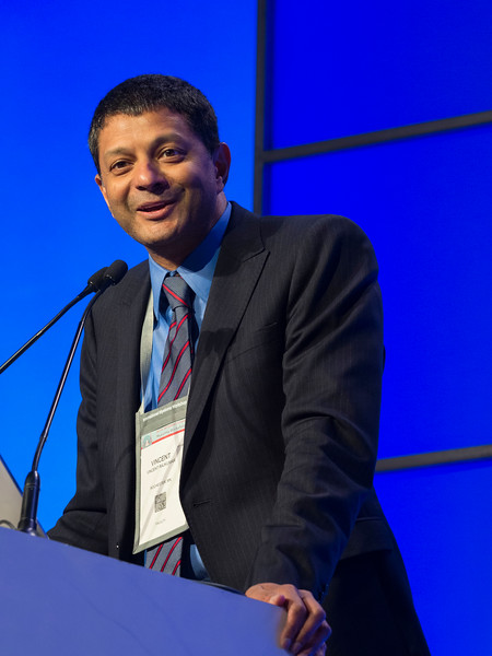 S. Vincent Rajkumar, MD introduces the keynote spekers during the opening ceremonies