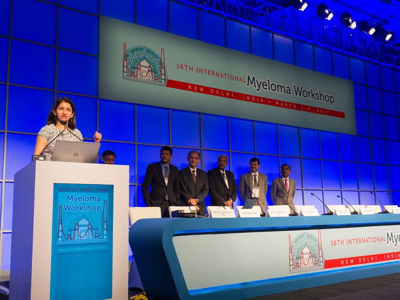 Noopur Raje, MD speaks during the opening ceremonies
