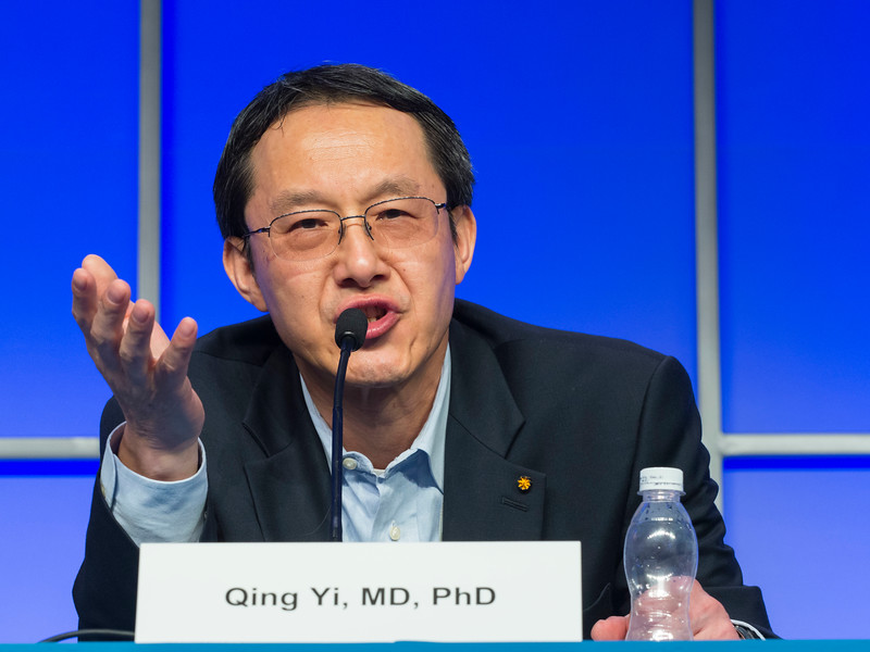 "Qing Yi, MD speaks during the session ""Immuno-Oncology"""