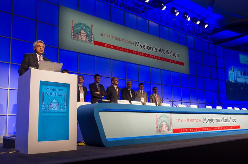 Shaji Kumar speaks during the opening ceremonies