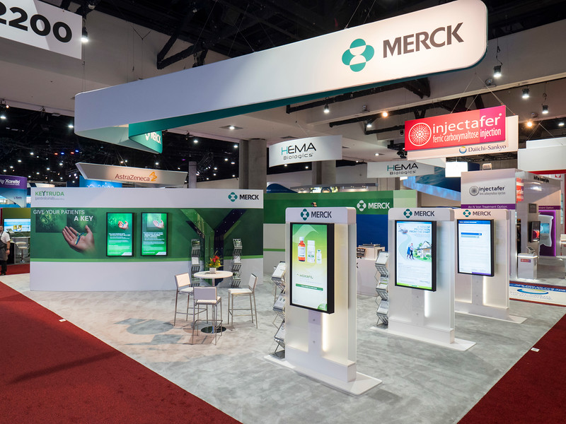 Merck during Exhibit Booth