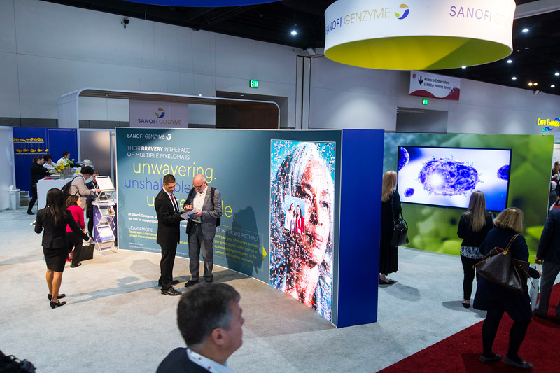 Sanofi during Exhibit Booth