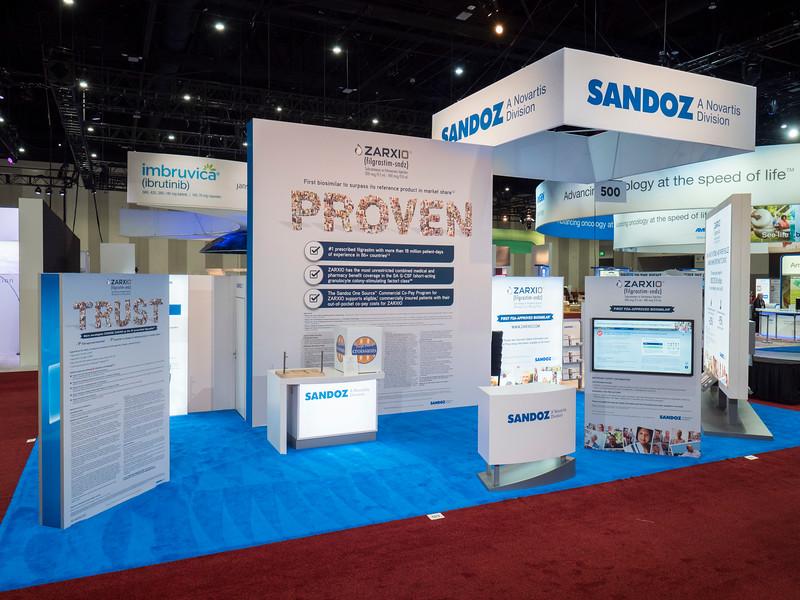 Sandoz during Exhibit Booth