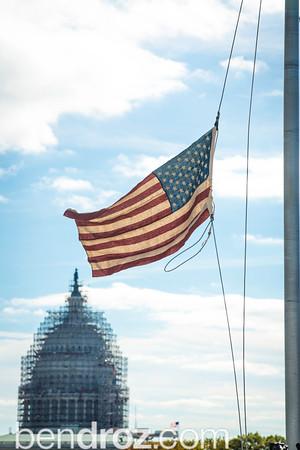 Handmade Hemp American Flag on Veterans Day