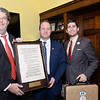 Eric Steenstra, Congressman Jared Polis, Ben Droz, Vote Hemp Celebrates Historic Hemp Language, with Honorary Plaques for Congressional House Champions, SEC. 7606, 2014 Farm Bill, The Legitimacy of Industrial Hemp Research,  Eric Steenstra, President, Vote Hemp,  Ben Droz, Federal Government Relations, Vote Hemp,  Printed on handmade hemp pape by locally based Artisan Hemp.