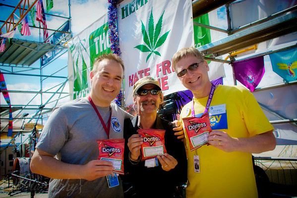 Seattle Police Department Spokesman, Hempfest Director Vivian McPeak, and Seattle City Attorney Pete Holmes. Photo by Mari Wirta