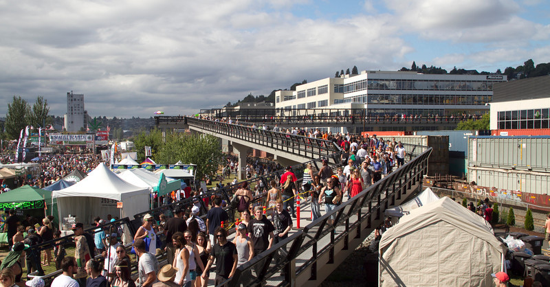 <b>Hundreds of thousands of people pour into Hempfest each year.   Photo by Janis Marie</b>