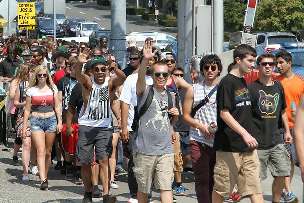 Hundreds of thousands attend Hempfest each year.   Photo by Kerry Copeland