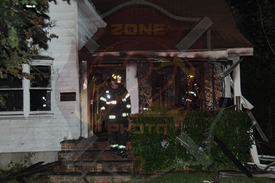 Hempstead F.D. Working Fire 16 Searing St. 9/6/14