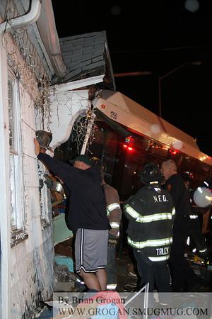 Fulton and Nassau Fatal Bus into house 11/27/12